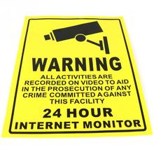CCTV Security Camera System Warning Sign Sticker Decal Surveillance 200mmx250mm(China (Mainland))