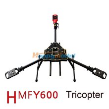 2016 Newest RC Drone FPV HMF Y600 3-Axis Tricopter Aircraft Frame with Landing Gear & Gimbal Kits Free Shipping
