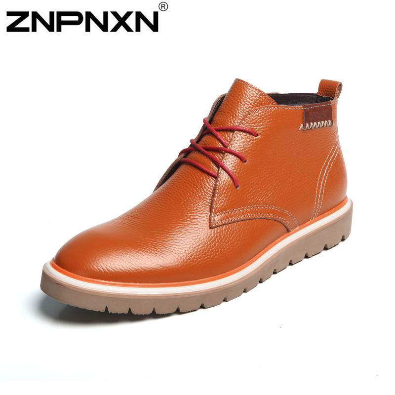 Men Boots For Summer 2015 Martin Cowboy Boots Outdoor Shoes Mountain Shoe With Fur Oxford Winter Ankle Boots Genuine Leather
