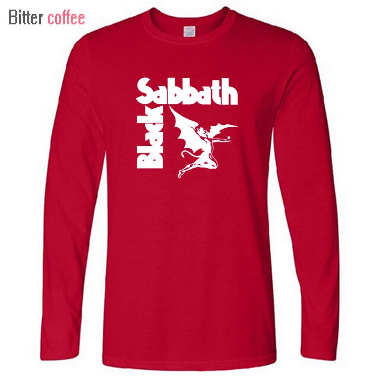 New Autumn winter Heavy Metal T Shirts Mens Black Sabbath Paranoid Tee Shirts Long sleeve Top Casual T Shirt Camiseta(China (Mainland))