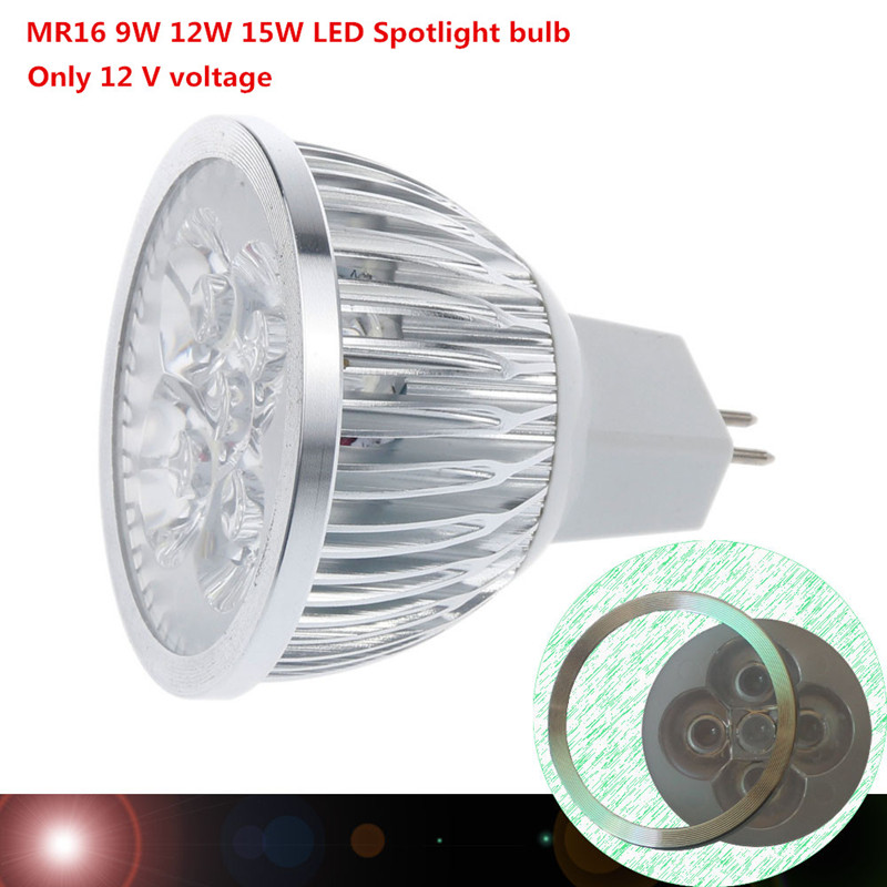 Pentair 690019 12v 15w Intellibrite Color Led Landscape: Super Bright 9W 12W 15W MR16 LED Bulbs Light 12V Dimmable