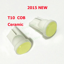 Short Section Ceramic Car Interior LED T10 COB W5W Wedge Side Light Bulb Lamp Car Light Source 12V T10 LED COB NO Error Parking