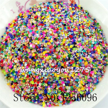 1000pcs/bag,Nail Art Tips,SS6,2mm,Mix color jelly resin flat back crystal rhinestone,Not Hotfix,Use glue,phone case,applique