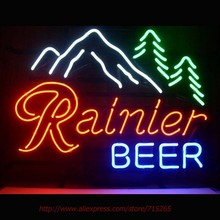 Rainier Jokul Tree Neon Sign Ride Horse Neon Bulbs Led Signs Real Glass Tube Handcrafted Decorate Beer Pub Advertise Neon 17×14