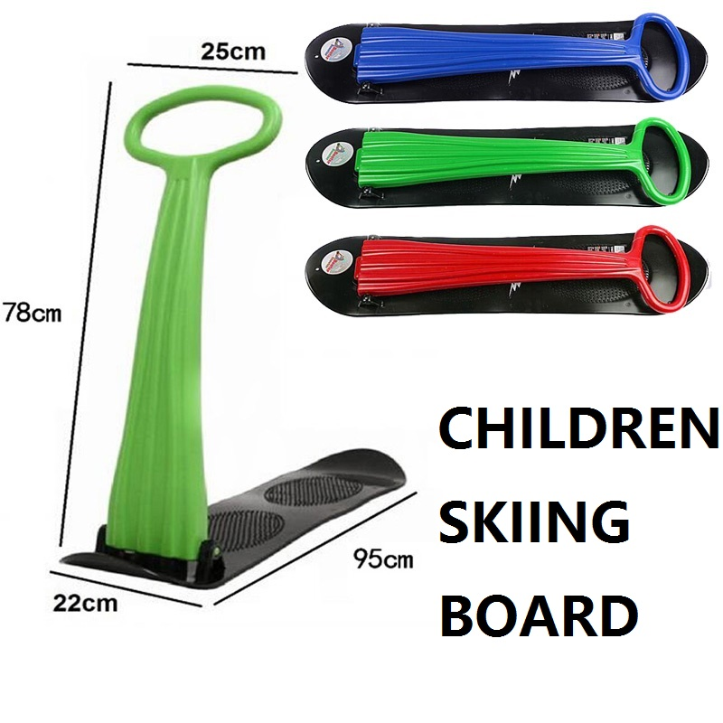 Winter Foldable Children Scooter Snowboard Board Ski Snow Sleds Cross Country Skiing Car Skiing And Snowboarding 3 Colors(China (Mainland))