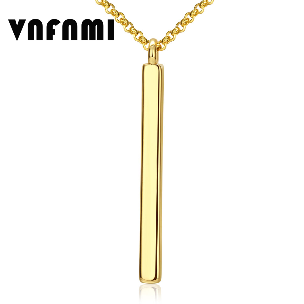 VNFNMI Real 18K Gold Plated Long Pendant Necklaces for Women/Men Pendant Necklace Statement Long Necklace Fine Jewelry for Women(China (Mainland))