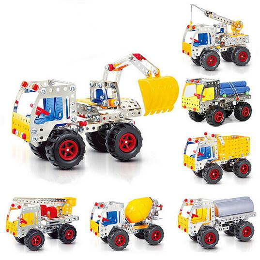 Free Shipping 3D DIY Assemblage Metal Model Trucks Building Kits Vehicle Cars Modelismo Kids Children Learning Education Toys<br><br>Aliexpress