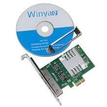 E350t4 winyao pci-e x1 porta quad 10/100/1000 mbps gigabit ethernet placa de rede lan adapter adaptador de servidor intel i350-t4 nic(China (Mainland))