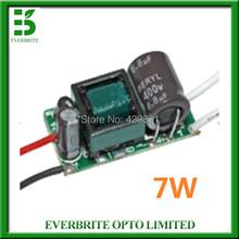 Internal LED Lamp Driver, Constant Current, Input AC85-265V Output DC12-25V 7W for E27 GU10 LED Bulb Spotlight, Free Shipping(China (Mainland))