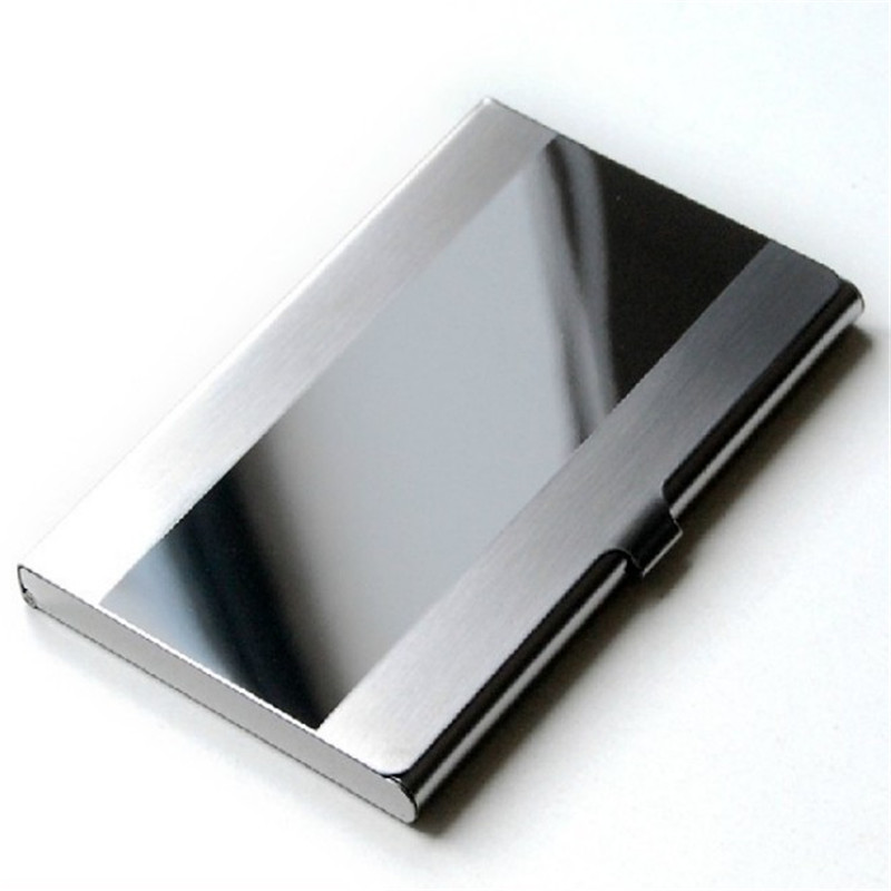 Wholesale Price!! Waterproof Stainless Steel Silver Aluminium Metal Case Box Business ID Credit Card Holder Case Cover Organizer<br><br>Aliexpress