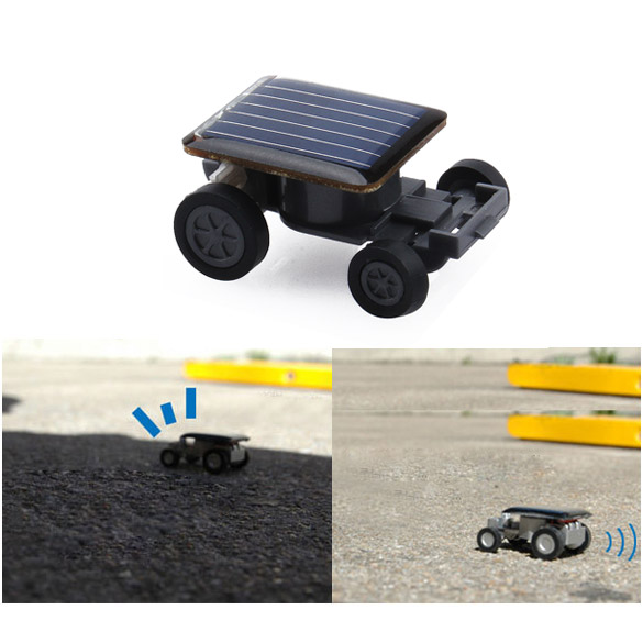 Lovely Mini Solar Power Toy Car Racer The World's Smallest Educational Gadget Children Gift HB88(China (Mainland))