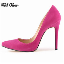 Buy 2017 Sexy Sude Leather High Heels Fashion Low Ladies Shoes Pointed Toe Wedding Shoes Woman Pumps New Women Shoes Size 42 for $24.93 in AliExpress store