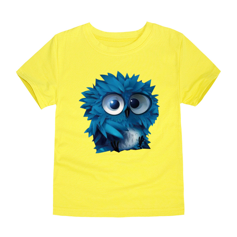 Little Bitty boys t shirt kids tees owl t-shirts baby girls children t shirts child short sleeve clothes kids tops for 2-14Y(China (Mainland))