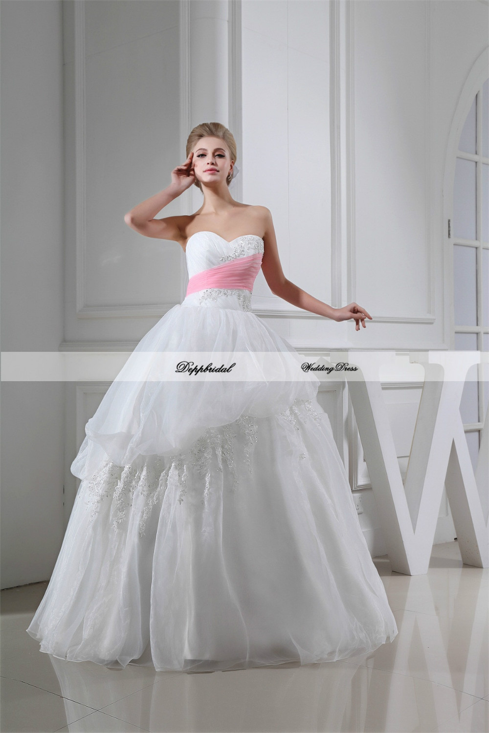 Wedding Dresses Wholesale : Aliexpress buy wholesale wedding dress organza ball gown
