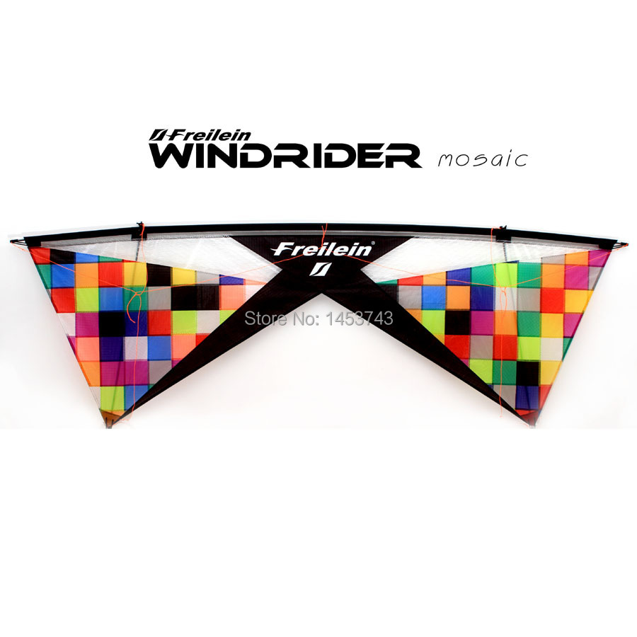 """Windrider Mosaic Set Stunt Kite With 25m Flying Line and 13"""" Handles Colorful Design For Beginner Plays FREE SHIPPING Now(China (Mainland))"""