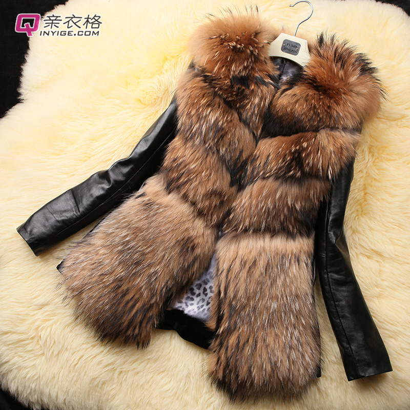 woman's fur coat Female short design genuine leather clothing Winter warm down-filled greatcoat - Angel Fashion Shopping Mall store