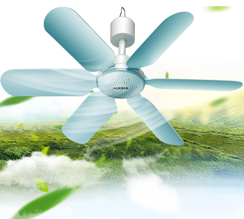 AUX 220V 7W Household Mute Mini Fan ceiling fan Energy Saving Fan ABS 6 blades Blue(China (Mainland))