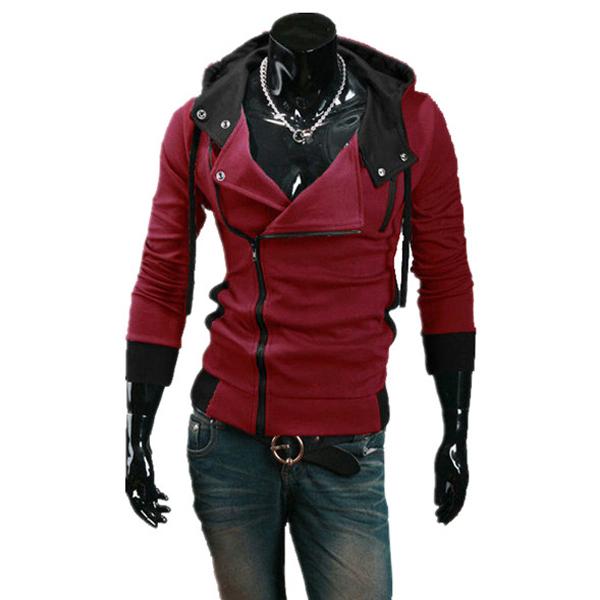 2015 Men Hoodies Casual Sportswear Man Hoody Zipper Long-sleeved Sweatshirt Plus Size Slim Fit Clothing - Man's World Store store