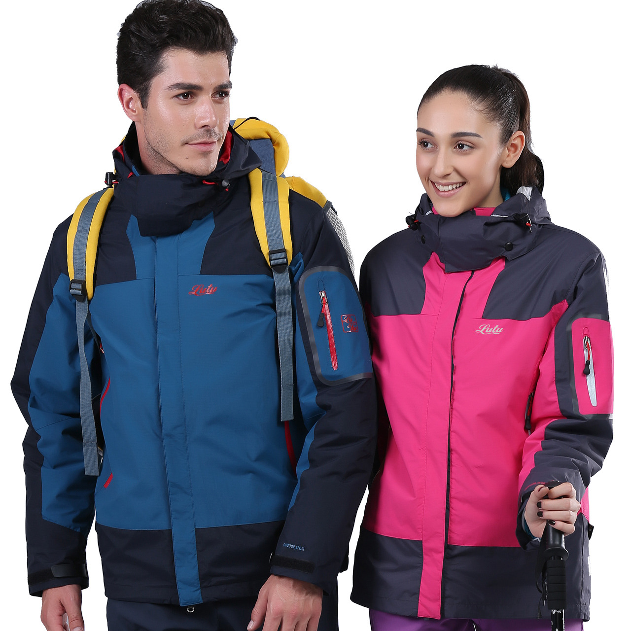 Lovers of outdoor jackets and three sets of one or two cotton liner removable waterproof windproof warm winter<br><br>Aliexpress