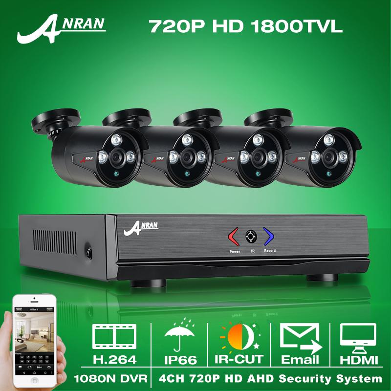 ANRAN 4CH CCTV 1080N AHD HDMI DVR 720P 1800TVL IR Weatherproof Outdoor CCTV Camera Home Security System Video Surveillance Kits(China (Mainland))