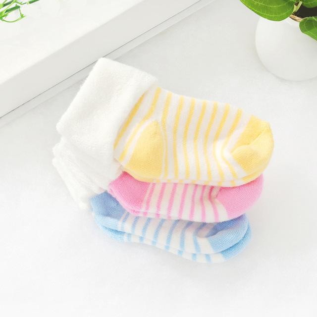 Зимняя одежда Детские носки новорожденных пола носки дети хлопчатобумажные носки ...