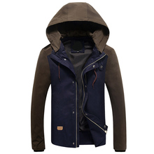 Mens Jacket 2016 Spring New Arrival Casual Hoodies jacket men Patchwork Slim Fashion Outdoor jackets and coats Asian size M-5XL(China (Mainland))