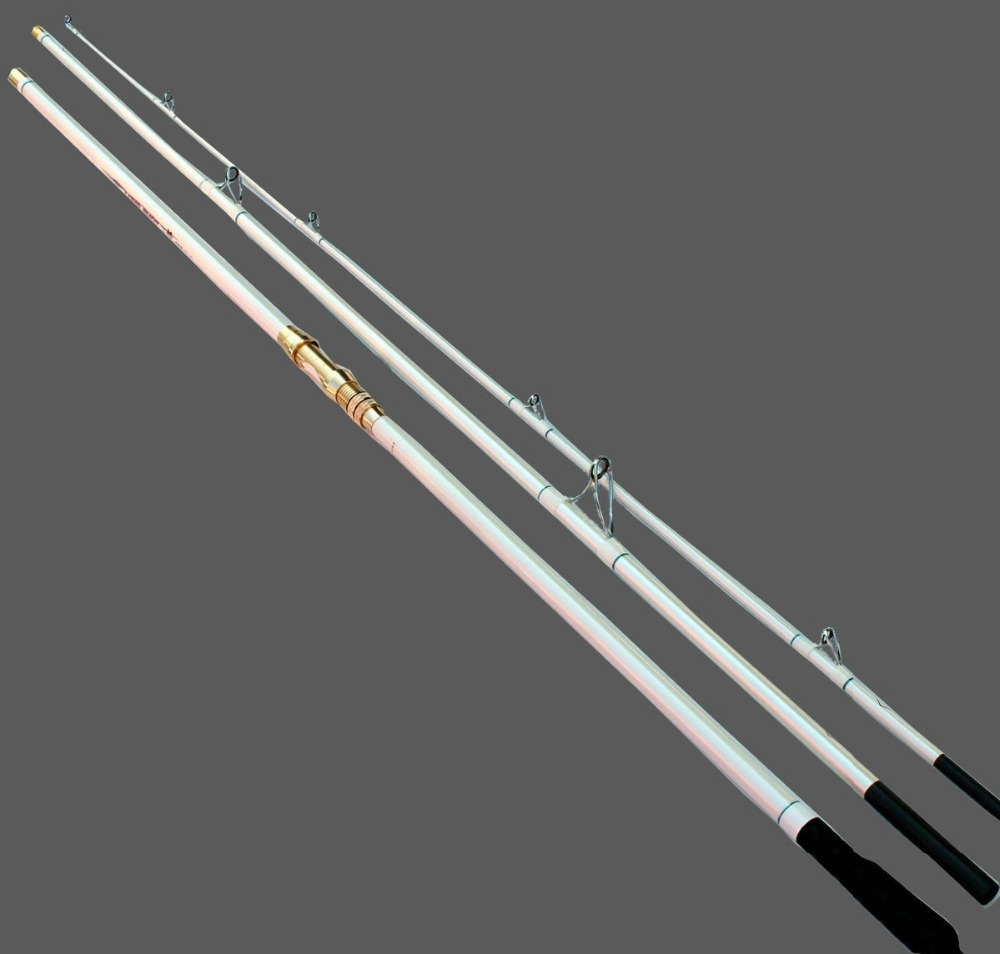 Free shipping 3 section surfcasting rod metal reel for Best surf fishing rods