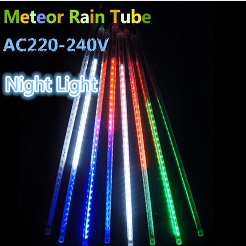 Christmas Snowfall Tube 60cm Meteor Rain Led Tube Light AC220-240V Free Shipping(China (Mainland))