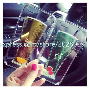 Wholesale 2000 Pcs Case for Apple 5s 6 6plus 6s Juice Cup Shell Liquid IPhone6 4.7/5.5 Fashion Beer Liquid Shell(China (Mainland))