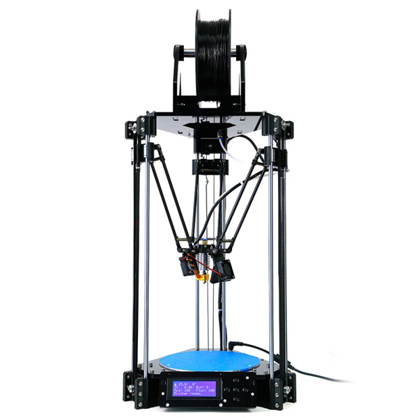 Delta 3D Printer Rostock Mini Pro RepRap Replicator Machine with LCD Controller DIY Kit with Free