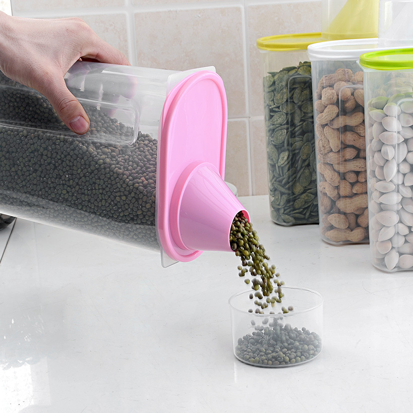 King covered storage jar sealed cans grains fall possibility antibacterial kitchen storage tank storage tank 2.5L(China (Mainland))