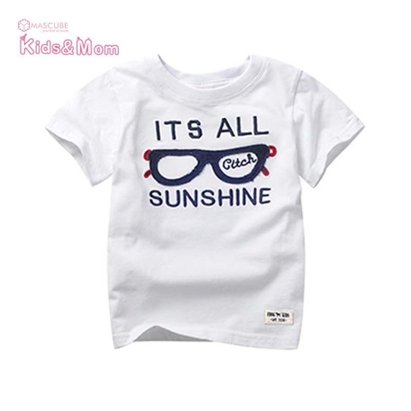 Children T Shirts Clothes Short Sleeve Baby Children's Clothing Round Collar Blouse High Quality Summer Style T-shirt(China (Mainland))