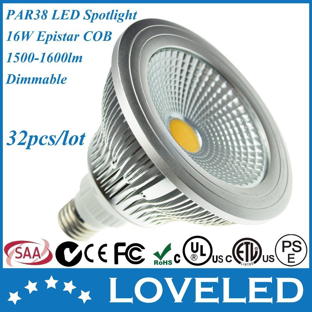High CRI 4000K Daylight COB Par Spot Lighting 120V 240V Dimmable E27 LED Lamp Par38 Die-casting Aluminium Free Fedex+32pcs(China (Mainland))