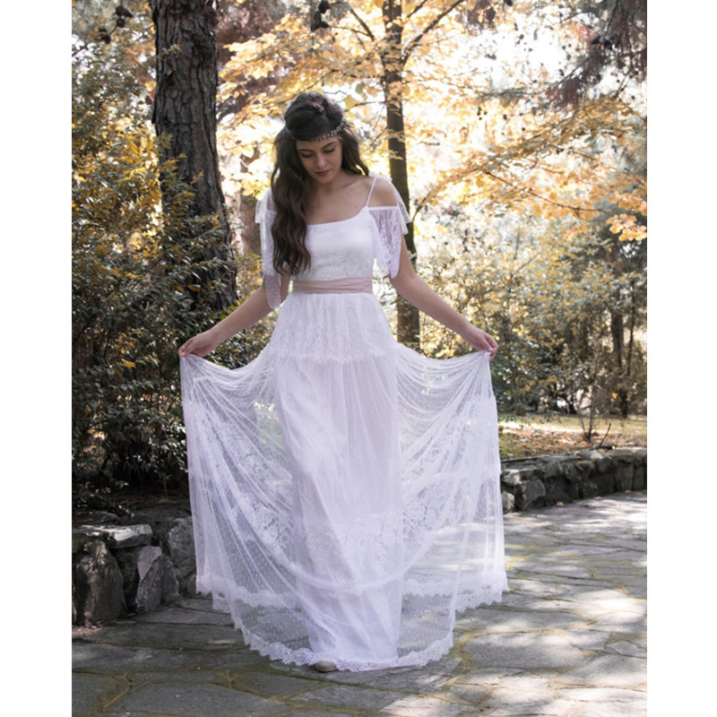 2015 hot sale sexy backless white bohemian lace wedding for Backless boho wedding dress