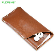 """Buy FLOVEME 5.5"""" Universal Pouch Genuine Leather Phone Case iPhone 7 Plus /6 Plus /6s Plus Samsung S7 S6 Edge Accessories for $8.99 in AliExpress store"""