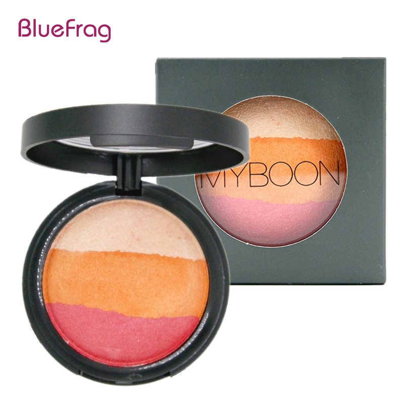 BLUEFRAG 6 Colors Silky Texture Baked Blush Palette Baked Cheek Color Blusher Blush Maquiagem Brand Makeup Baking Blush BL365(China (Mainland))