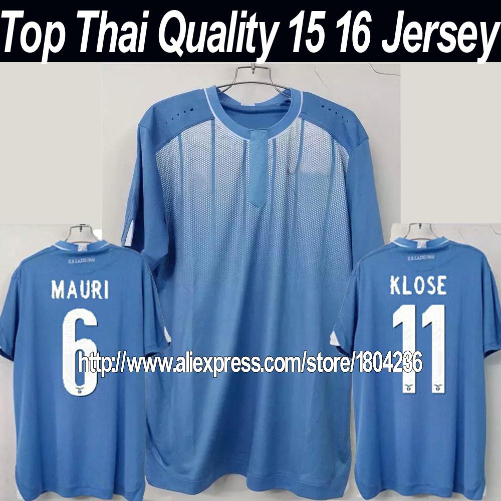 2015 2016 new Lazio jersey 15 16 Lazio home football shirt Klose Candreva 115th Anniversary soccer jerseys Top Thailand Quality(China (Mainland))