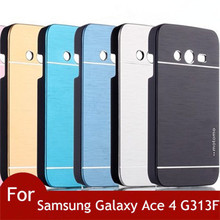 Новый Motomo матового алюминиевая крышка чехол для Samsung Galaxy Ace 4 G313 G313H G313F Neo Duos G318H / DS G318ML капа Celular
