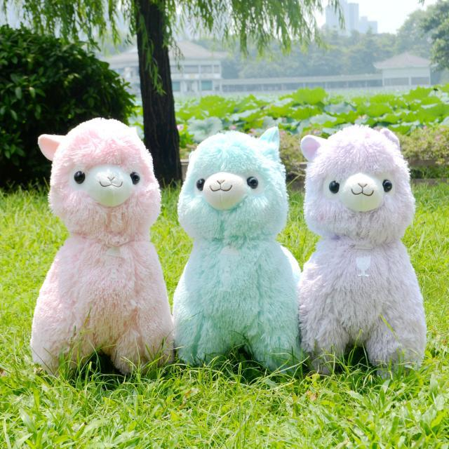 "Free Shipping 14""/35CM Alpacasso Arpakasso Alpaca Plush Toys Soft Sheep Stuffed Toy For Children 5 Colors Available(China (Mainland))"