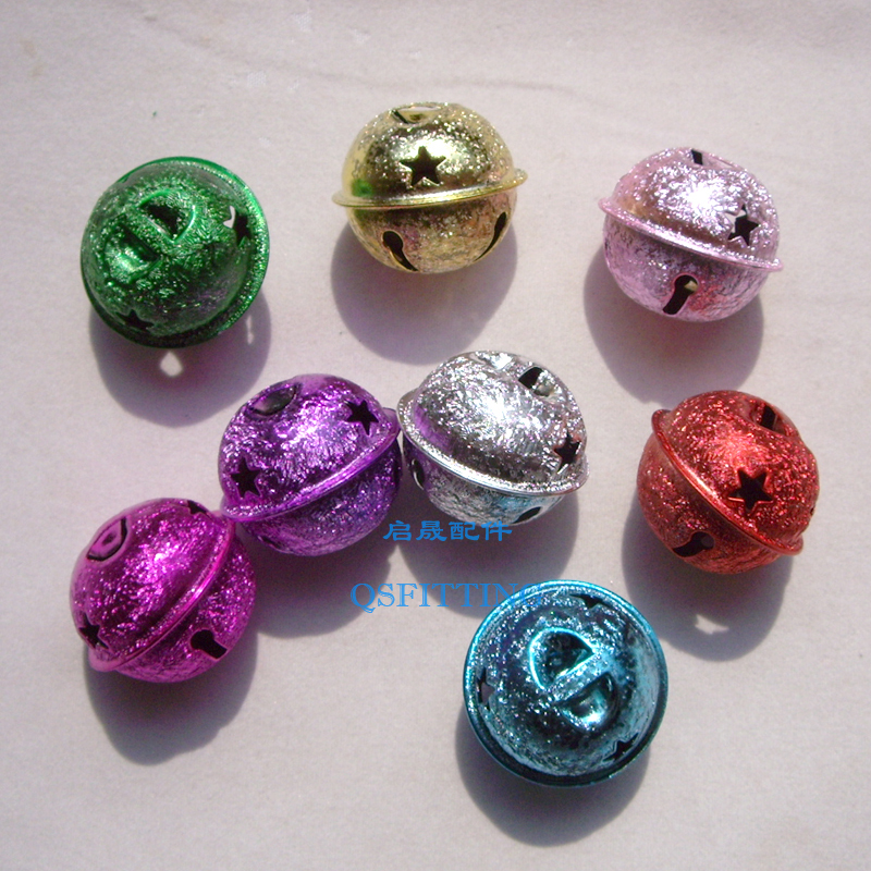 Christmas Decoration Supplies,Metal Bells,Chiristmas Tree Ornament,Gold Plated,Mix Color(China (Mainland))