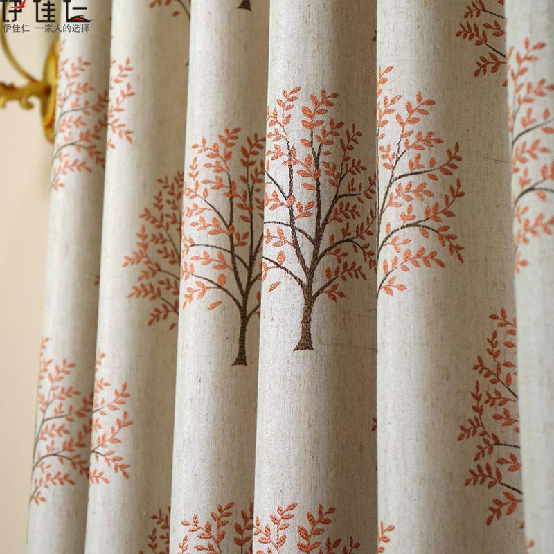 Custom hemp custom window shade the sitting room the bedroom modern flax insulation curtain(China (Mainland))