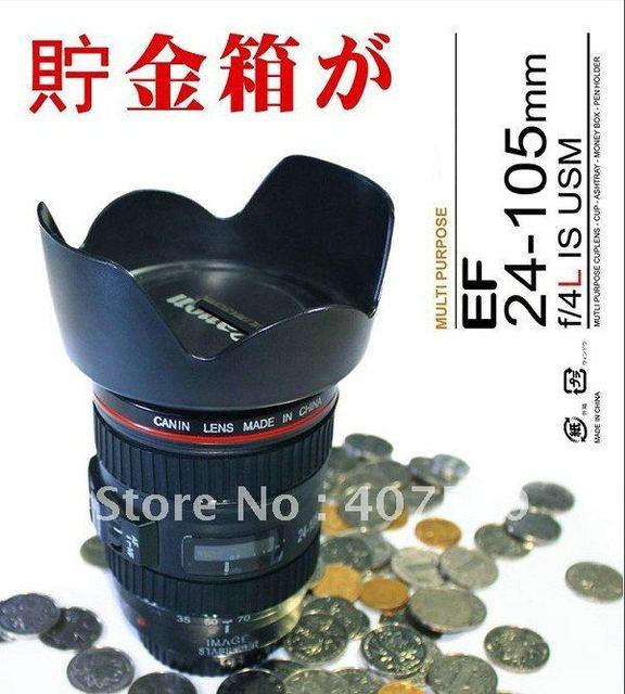 New creative 11*11*16cm Lens Piggy Bank Camera Shape Coin Box Money Box Gift Ideas,FREE SHIPPING!!