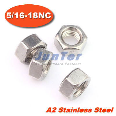 100pcs/lot 5/16-18NC x 1/2 x 17/64 Hex Nuts A2 Stainless Steel<br><br>Aliexpress