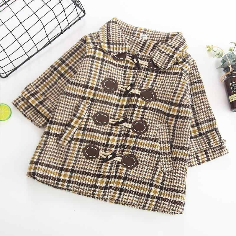 CNUM/шерстяная куртка для девочек милые пальто одежды хлопковая Детская школьная undefined