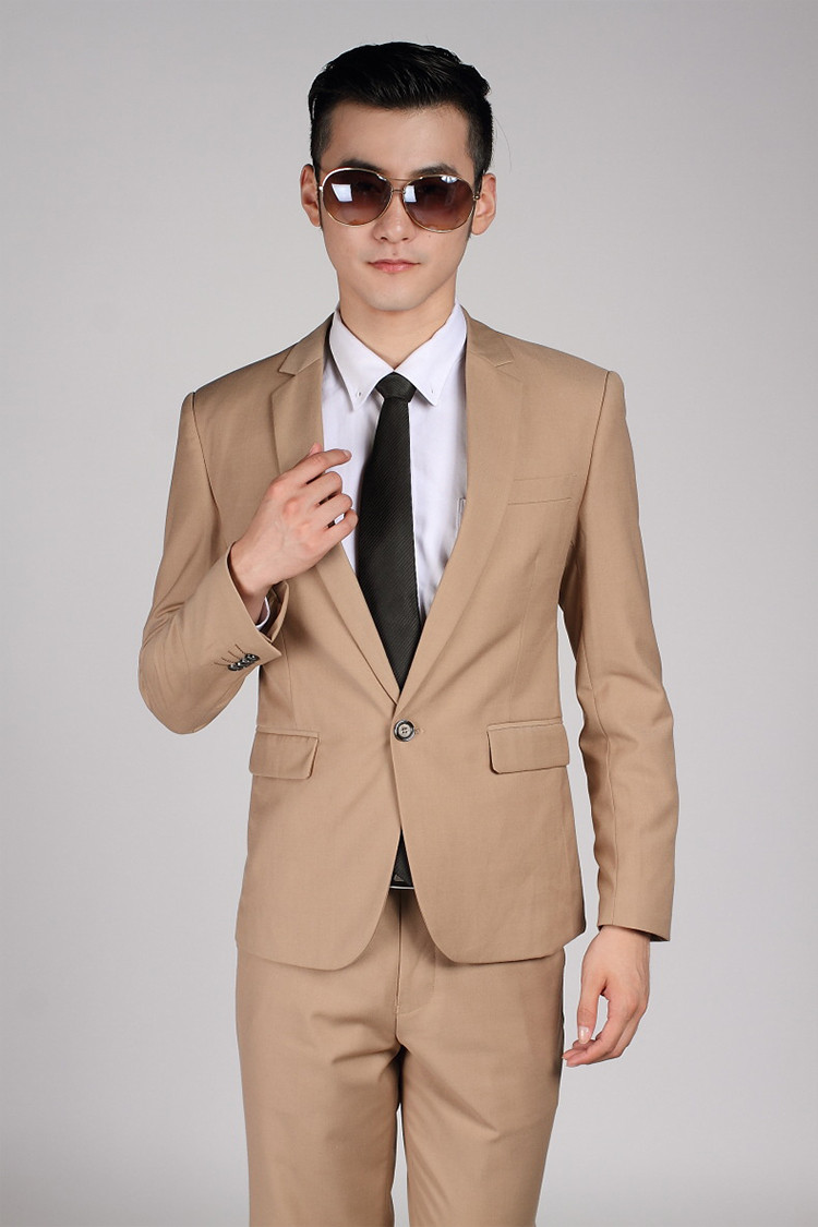85-Free Shipping New 2015 man suit classic Fashion grooms man suits! Men's Blazer Business Slim Clothing Suit And Pants