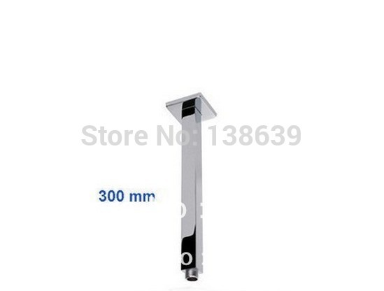 Brass construction chrome finish wall mouted 320mm bathroom shower arm 325,bathroom accessories - Maia Sanitary store