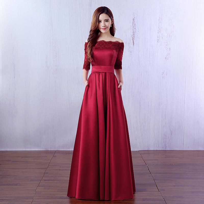 Вечернее атласное платье в пол