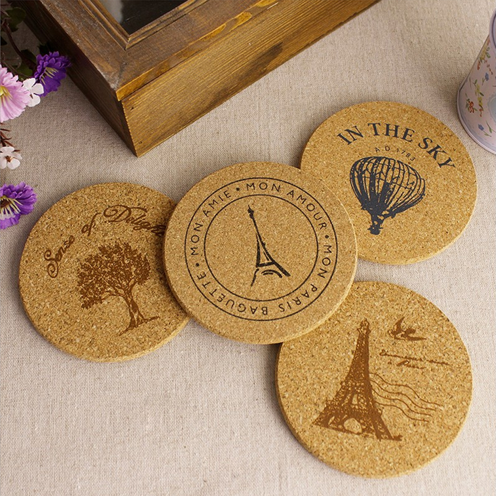 Buy European Style 8pcs Lots Cork Wood