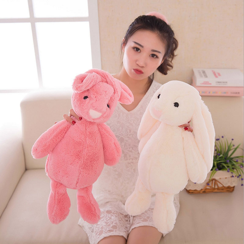 2017 New 30cm Bunny Stuffed Rabbit Cut Plush Soft Toys Promotional Bunny Doll Rabbit Plush Toy With Long Ears Appease Rabbit(China (Mainland))