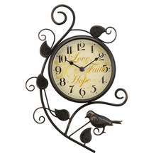 16 Inch Modern Creative Personality Magpie Wall Clock European Style Large Vintage Wall Clocks Fashion Montre Murale(China (Mainland))